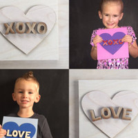 Valentine's Day Gift - Children's Craft Kit - DIY Wood Sign - Gift Ideas for Kids - Gifts Under 15 - Do It Yourself Kit- Craft Kit for Kids