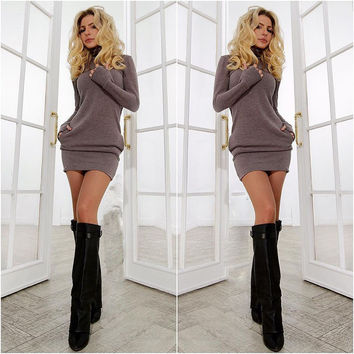 2015 new year women warm dress winter clothes for women dress fall women's Clothing sexy office dress