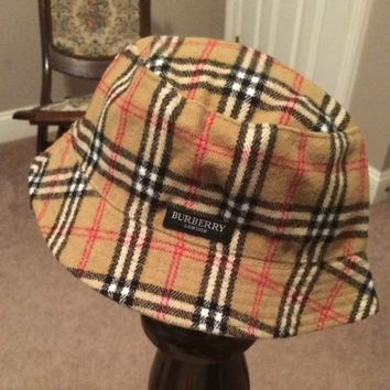 Burberry Reversible Plaid Bucket Hat