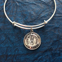 Air Force Expandable Charm Bracelet Adjustable Bangle Expandable Bracelet Gift USA Military Jewelry