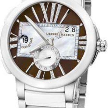 Ulysse Nardin - Executive Dual Time Lady - Stainless Steel - Ceramic Bezel