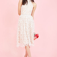 Defining Divine Midi Dress in White