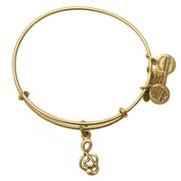 Alex and Ani Sweet Melody Charm Bangle - Rafaelian Gold Finish