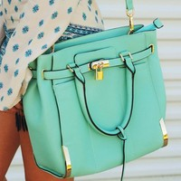 Now You Know Purse: Mint