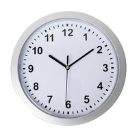 "Evelots Mountable Round Wall Clock With Hidden Safe 10"", Security For Valuables"