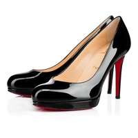 New Simple Pump 100 BLACK Patent - Women Shoes - Christian Louboutin