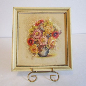 Atlas Embossed Picture Floral  3 D Art Print