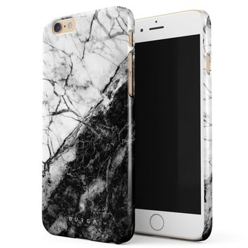 BURGA, Fatal Contradiction Black And White Marble Yin And Yang Thin Design Durable Hard Shell Plastic Protective Case For Apple iPhone 6 Plus / 6s Plus