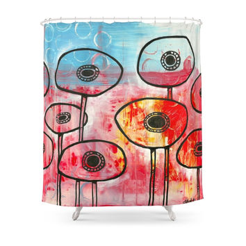 Society6 Poppies #1 Shower Curtain