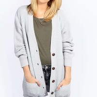 Demi Laguna Soft Knit Button Cardigan