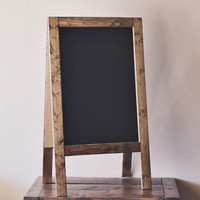 """Rustic Thick Double-Sided A-Frame Chalkboard 42x24"""""""