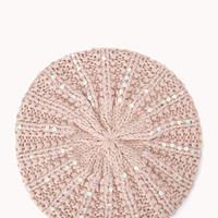 Cozy Sequined Beret