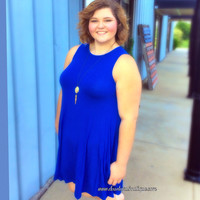 Royal Blue Trapeze Tank Dress