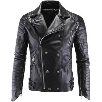 2017 Fall Fashion Winter Leather Jacket Men Jaqueta De Couro Masculina Faux Fur PU Leather Jacket Bomber Motercycle Biker Jacket