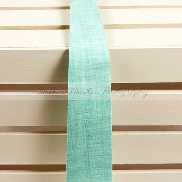 Boy's, Girl's Necktie, Baby, Child- Mint Green, Textured