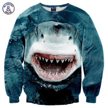 Mr.1991INC New Spring Autumn Fashion Hoodies Men/women Sweatshirts 3d Print The Ocean Shark Hoodies Brand Pullovers