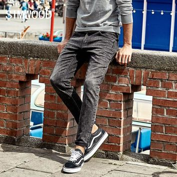 SIMWOOD Hot Sale 2018 Spring New Jeans Men Slim Trousers Pants Stretch Vintage Plus Size Brand Clothing NC017017