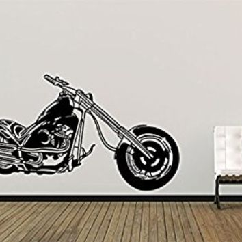 Wall Decal Vinyl Sticker Decals Art Decor Design Moto Cars Old School Retro Harley Bike Motobike Speed Rock Style Dorm Bedroom (r351)