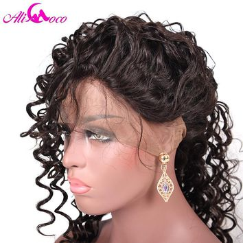Brazilian Deep Wave Full Lace Human Hair Wig