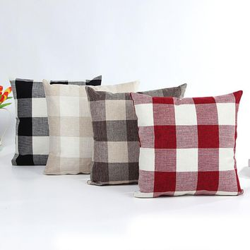 Super Deal home Plaid euro pillow cover pillowcase throw pillows Porcelain pillowcase for the pillow 45*45 XT