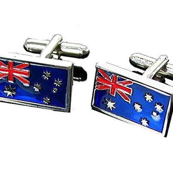 Basket Hill ,Rectangular Australian Flag Cufflinks