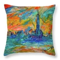 Paris Edge Throw Pillow