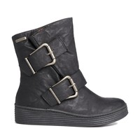 Blowfish Barnaby Flat Buckle Boot - blackrelax