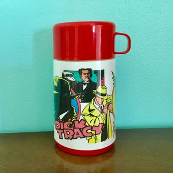 Aladdin Dick Tracy Thermos, Dick Tracy Disney Thermos, Aladdin Thermo Jar