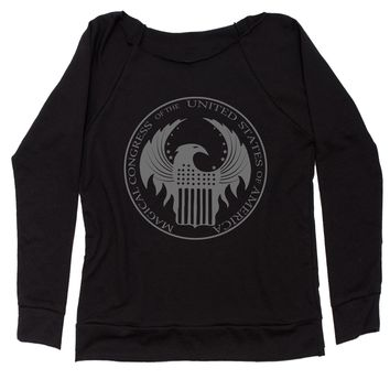 Magical Congress Of The United States Slouchy Off Shoulder Oversized Sweatshirt