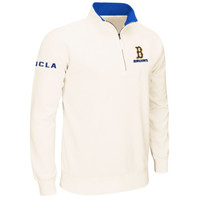 UCLA Bruins Drive 1/4 Zip Pullover Sweatshirt – Cream