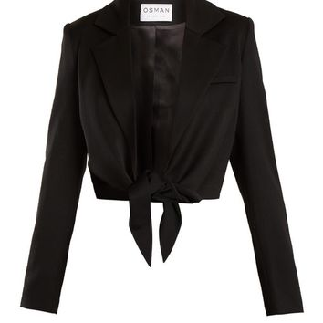 Bette tie-waist wool-blend jacket | Osman | MATCHESFASHION.COM UK