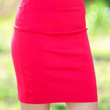 Feeling Accomplished Skirt-Red Dress Red
