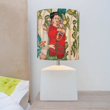 Frida Kahlo Ceramic Lamp Retro Kitsch Mexican