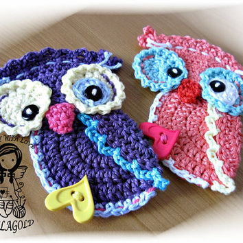 Crochet PATTERN, Applique Autumnal Owl, DIY Pattern 69