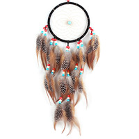 Festival Wave Point Feather Dream Catcher Wall Hanging Home Car/Household Decoration Dreamcatcher Craft