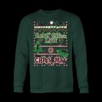 Cat Lady Ugly Christmas Sweatshirt Gear