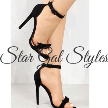 Bow Intentions Black Single Sole Heel