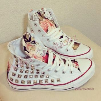 DCCKHD9 Custom studded Converse Chuck Taylors with by KillerCreationz