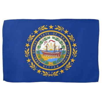Kitchen towel with Flag of New Hampshire, U.S.A.