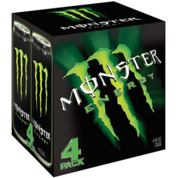 Walmart: Monster Energy Drink, 16 fl oz, 4 count