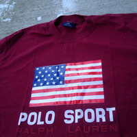 Vintage Ralph Lauren Polo Sport Shirt Medium