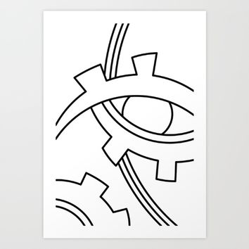 eye Art Print by Ia Po