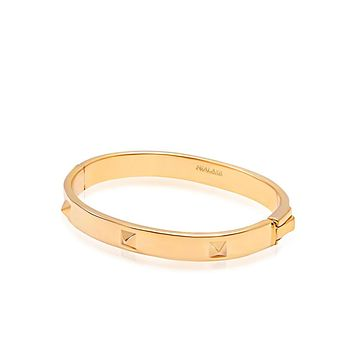 Men's Gold Stud Bangle