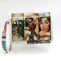 Wonder Woman Wristlet Handbag, Small Womens Clutch with wrist strap, Women's Purse Wallet, Upcycled Comic Book, Geeky Girl Gifts for her