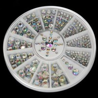 Silver Holographic Glitter Rhinestone Magic Color Nail Art Decoration 3 Sizes