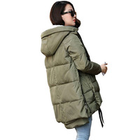 Hoody Long Style Warm Winter Coat Women
