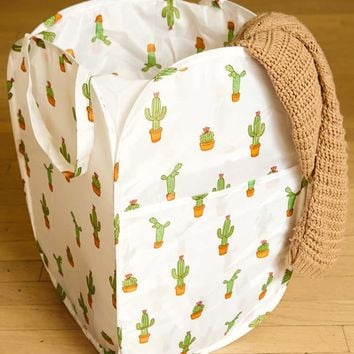 Pop-Up Cactus Laundry Hamper