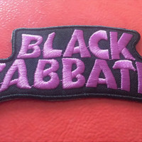 Black Sabbath Embroidered Patch. Licensed. Sew On. Iron On. Applique. Ozzy Osbourne. Metal. Rock. 70s. DIY. Upcycle.