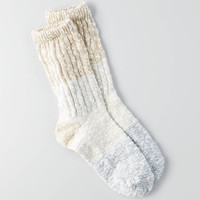 AEO Colorblock Crew Socks, Cream
