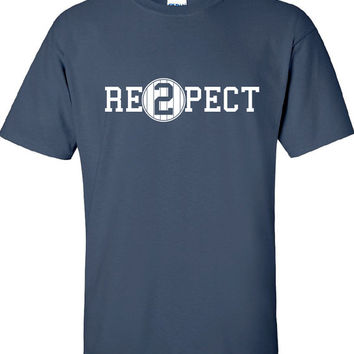 Re2pect T-Shirt Jeter Retirement Respect the Pinstripes New York Yankees Respect the Pinstripes Shirt T-Shirt Funny Vintage swag Tee DT-613
